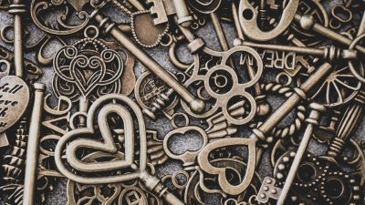 Keys of various shapes and designs