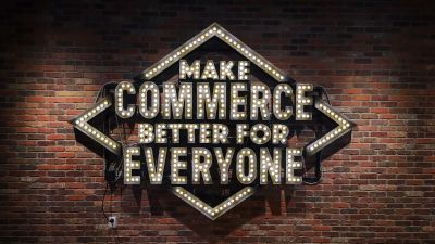 Make commerce better for everyone – A sign at Shopify's head office in Ottawa.