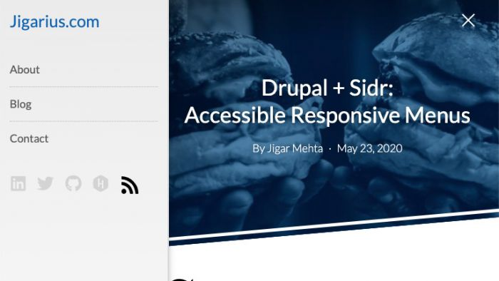 The Sidr module for Drupal in action