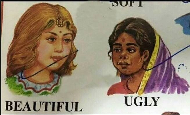 An extract from an Indian school book which implies racism