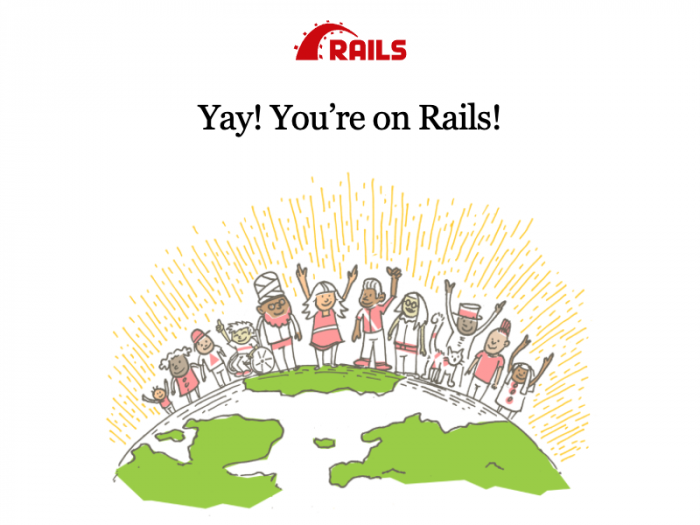 Screenshot of the Rails welcome screen