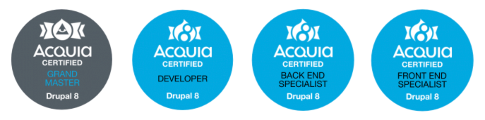 Acquia Drupal 8 Certification Badges