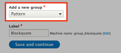 Screenshot of using UI patterns with field groups